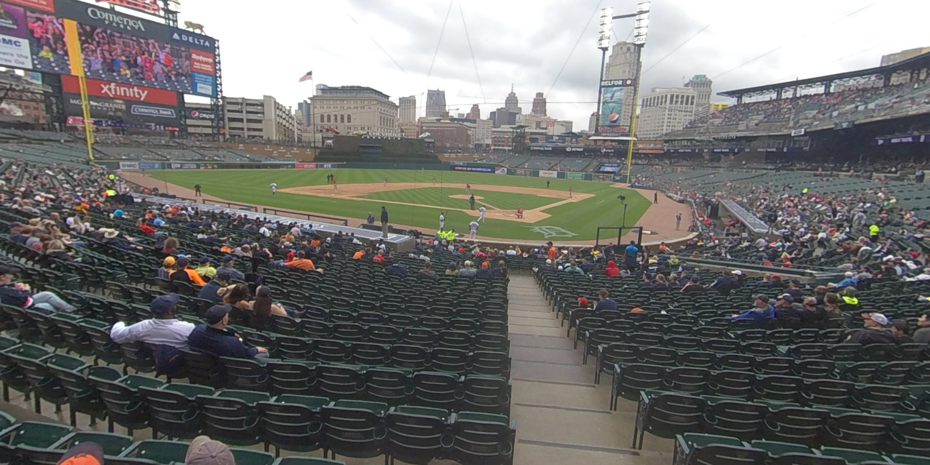 360° Photo From Comerica Park Section 130