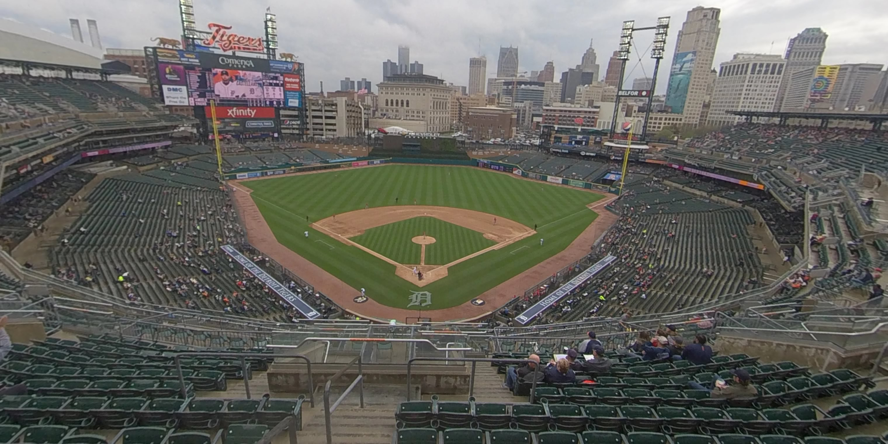360° Photo From Comerica Park Section 327