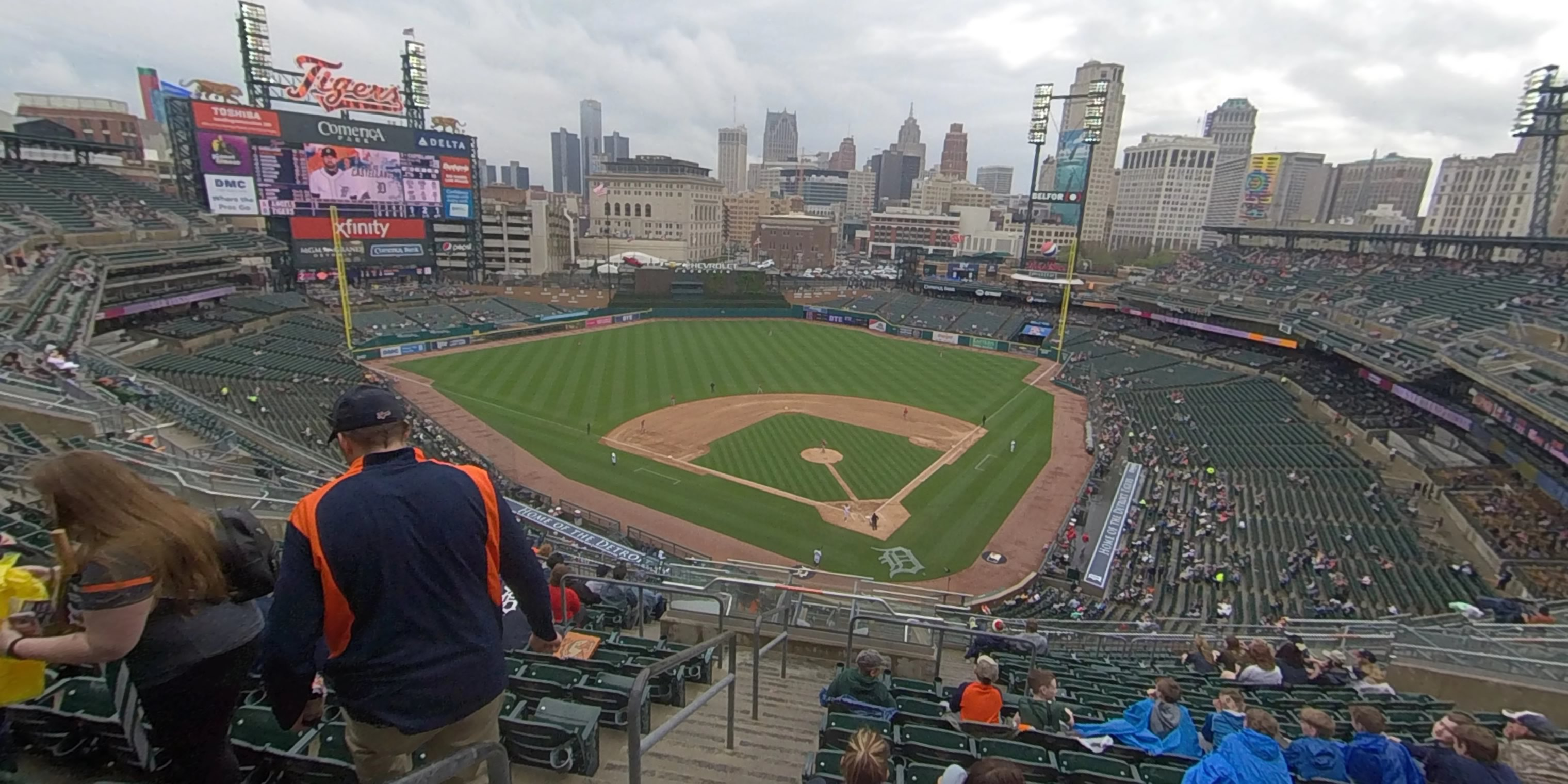 360° Photo From Comerica Park Section 329