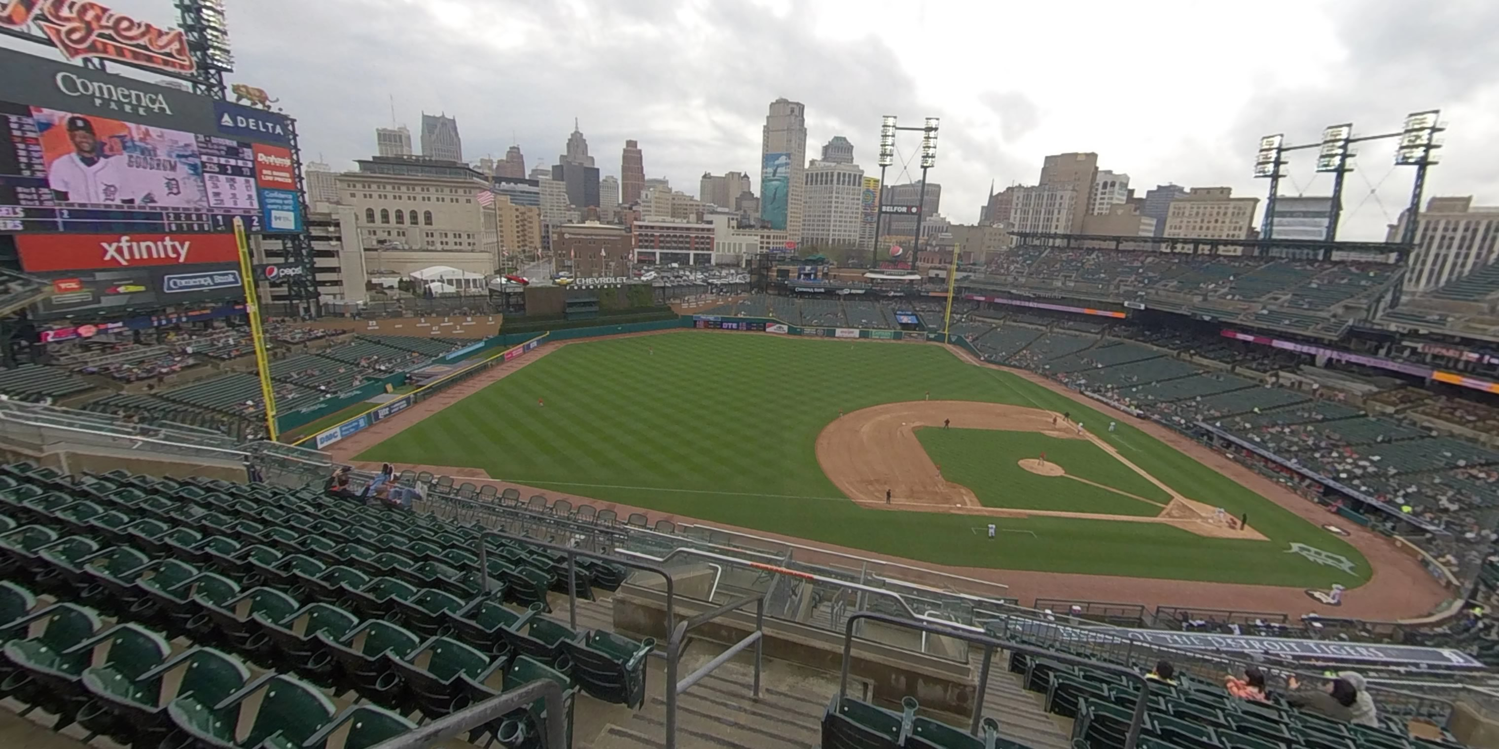 360° Photo From Comerica Park Section 337