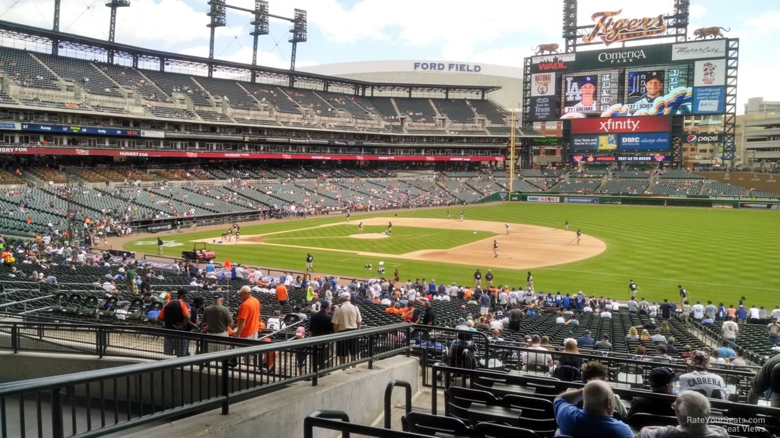 Seat View for Comerica Park Terrace 118, Row G