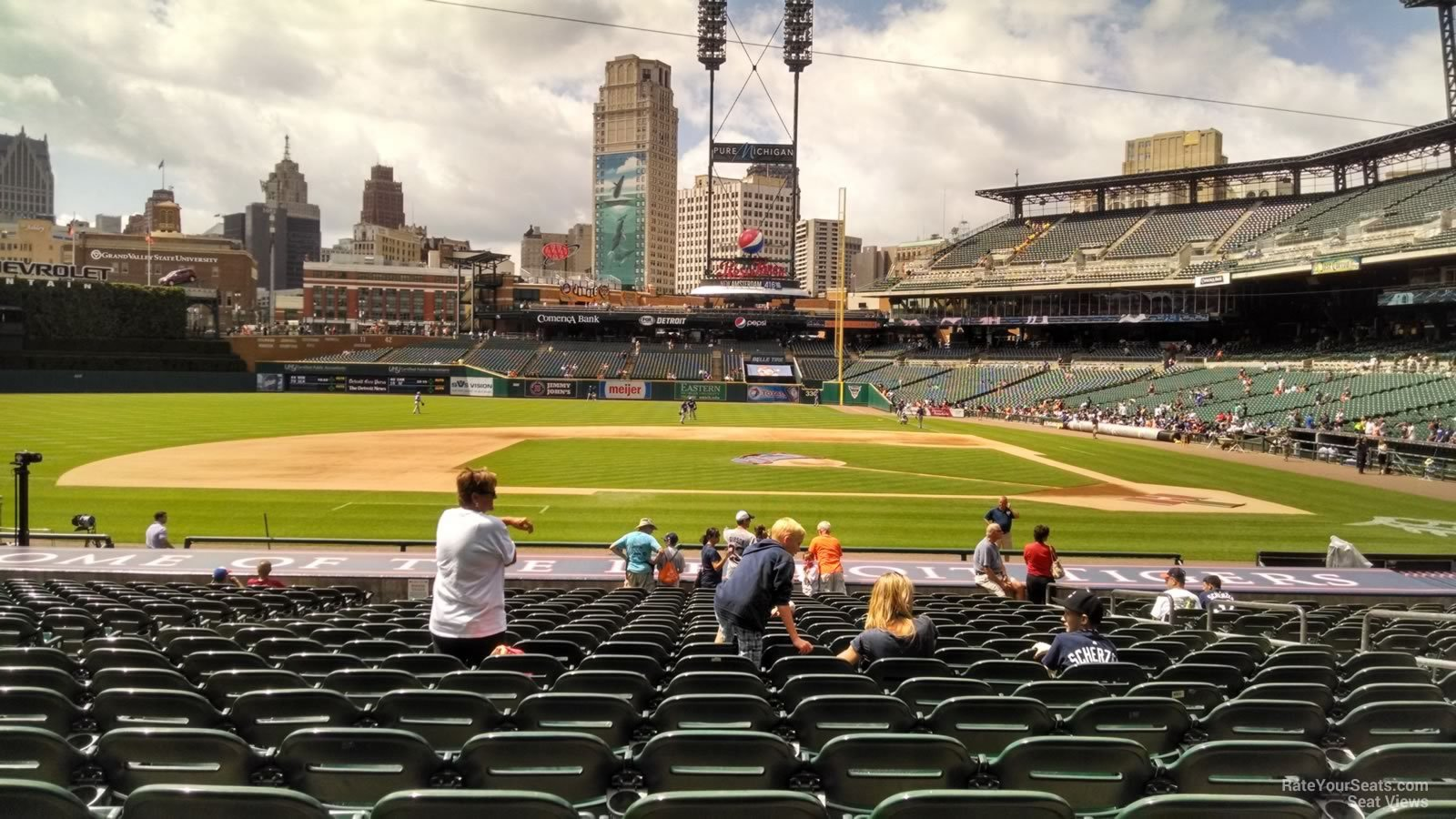 Seat View for Comerica Park Section 133, Row 26