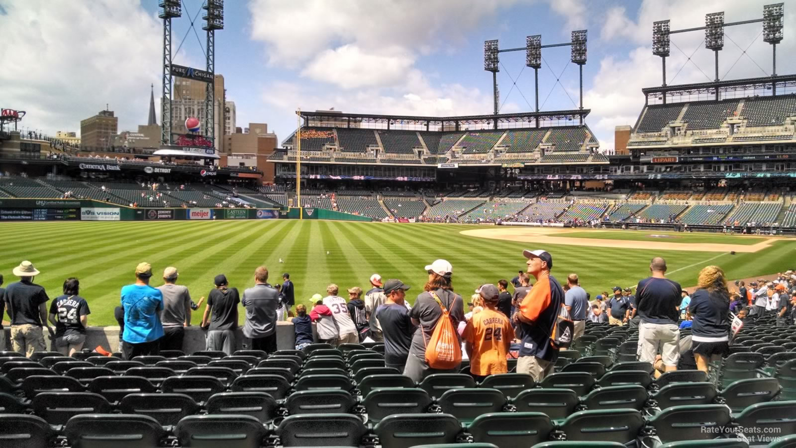 Detroit Tigers Seating Chart With Rows And Seat Numbers ...