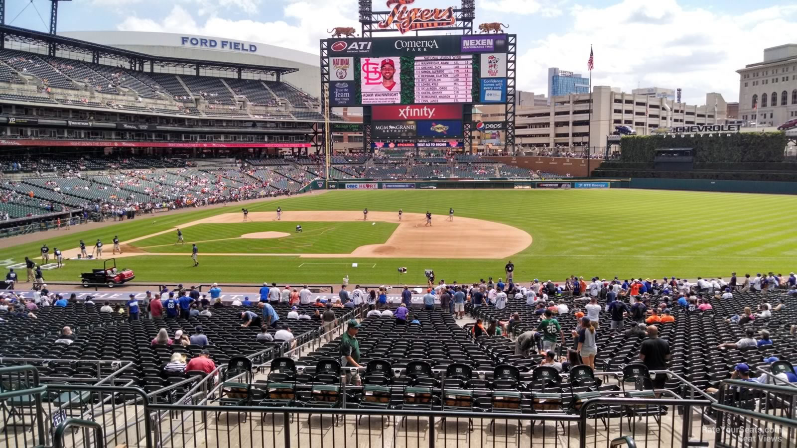 Seat View for Comerica Park Tiger Den 120