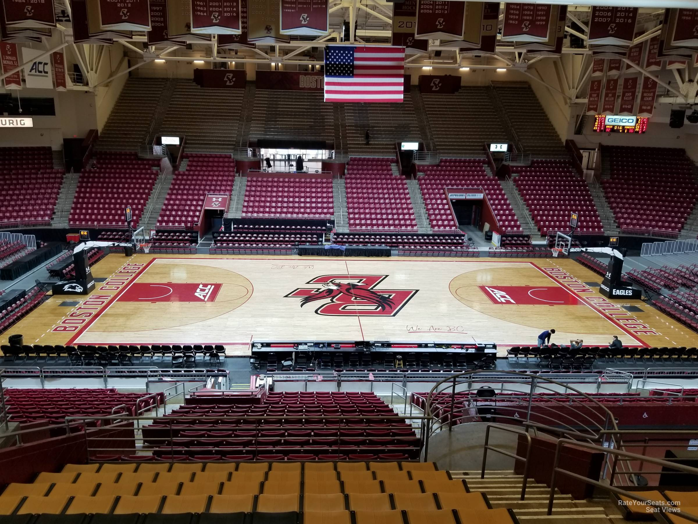 Seat View for Conte Forum Section MM, Row 12