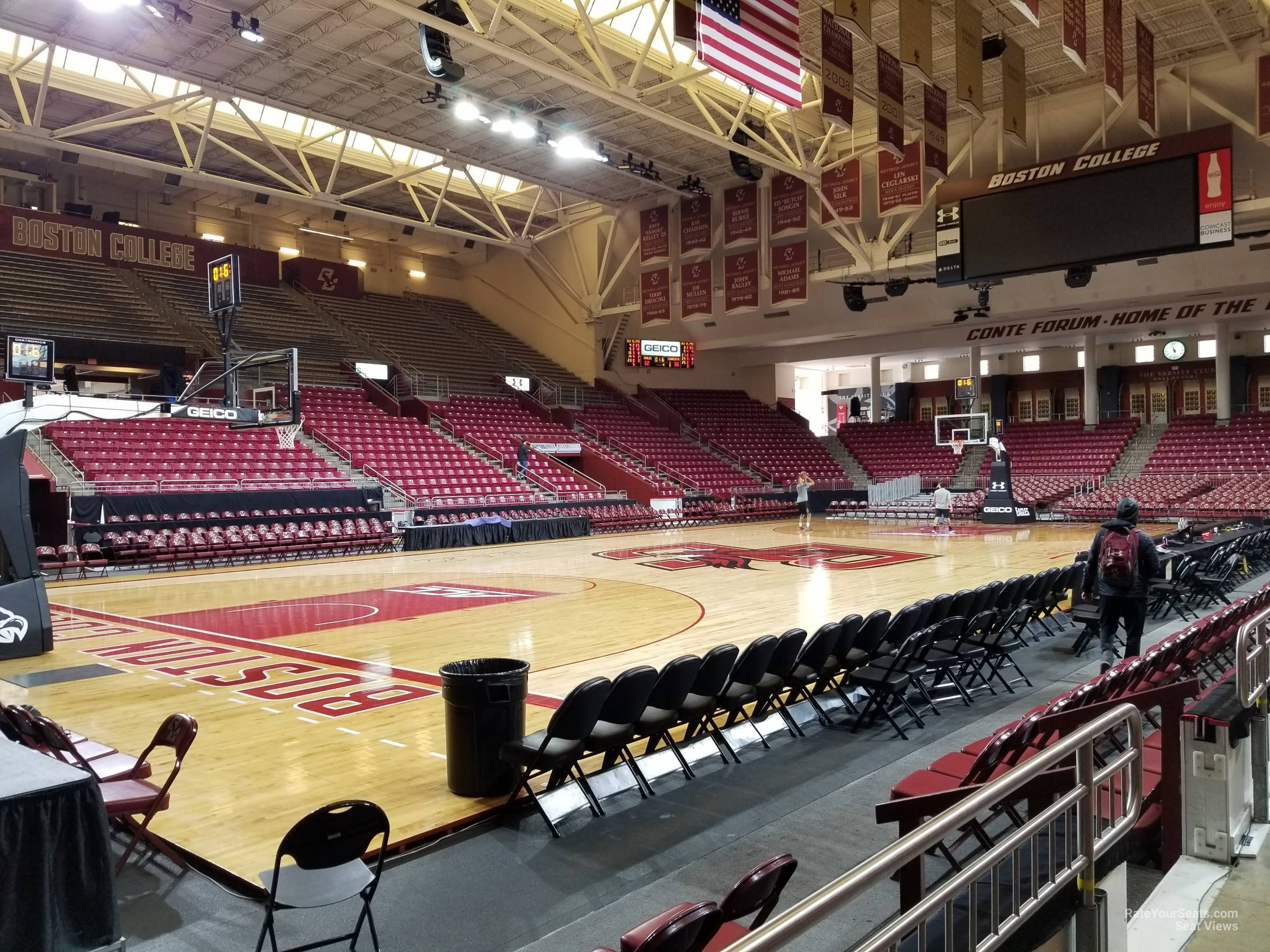 Seat View for Conte Forum Section O, Row 1