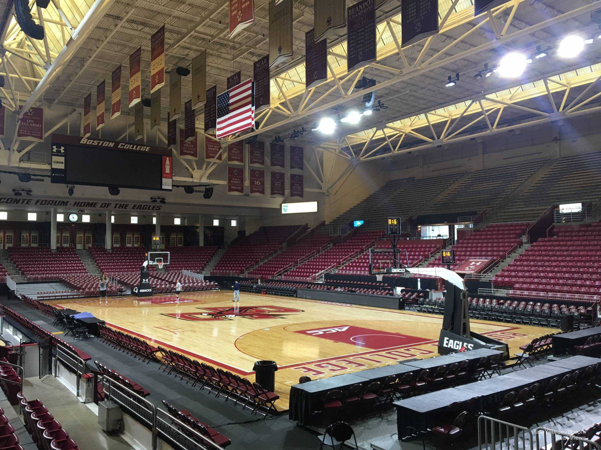Seat View for Conte Forum Section U, Row 5
