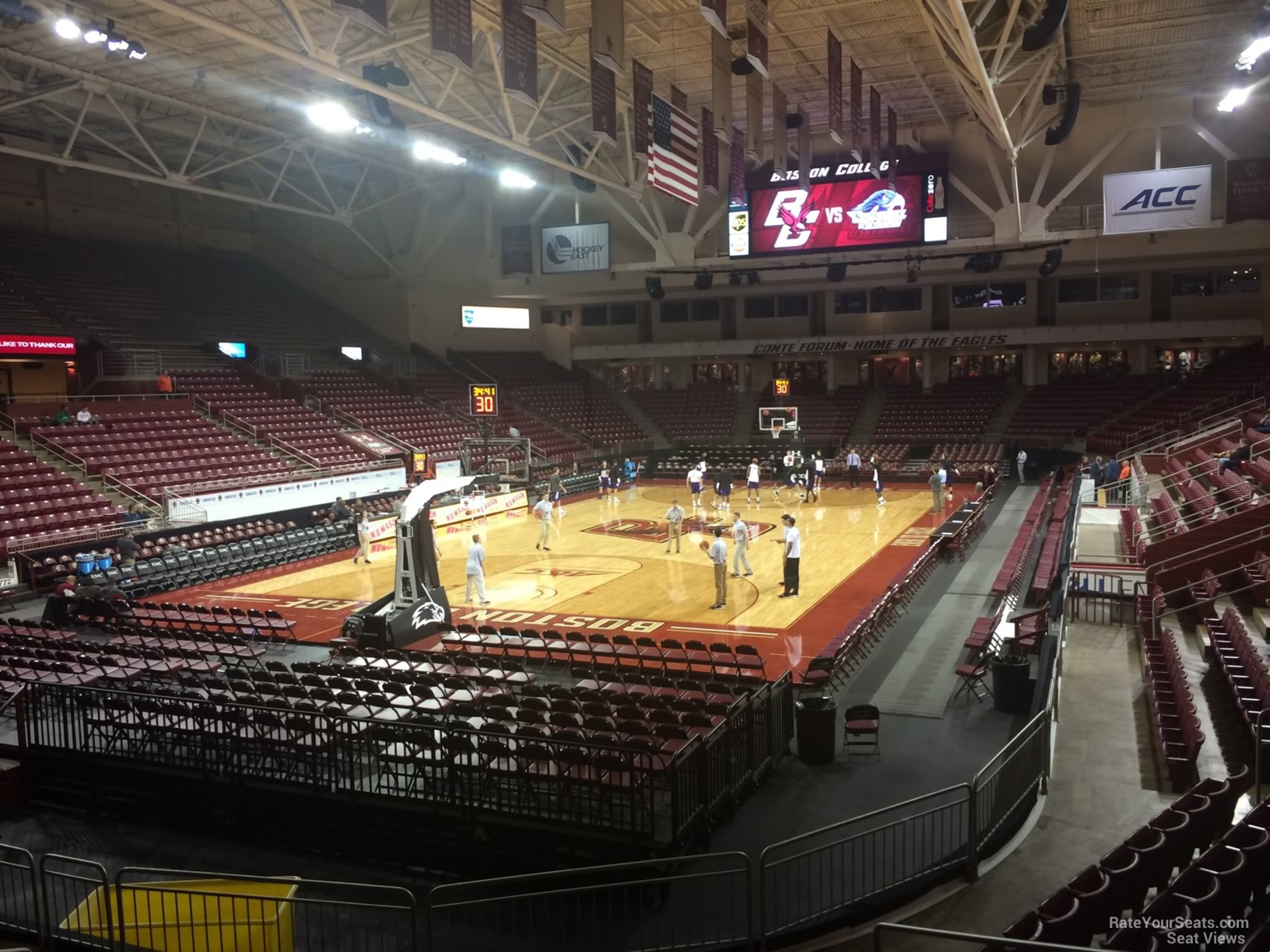 Seat View for Conte Forum Section E, Row 10