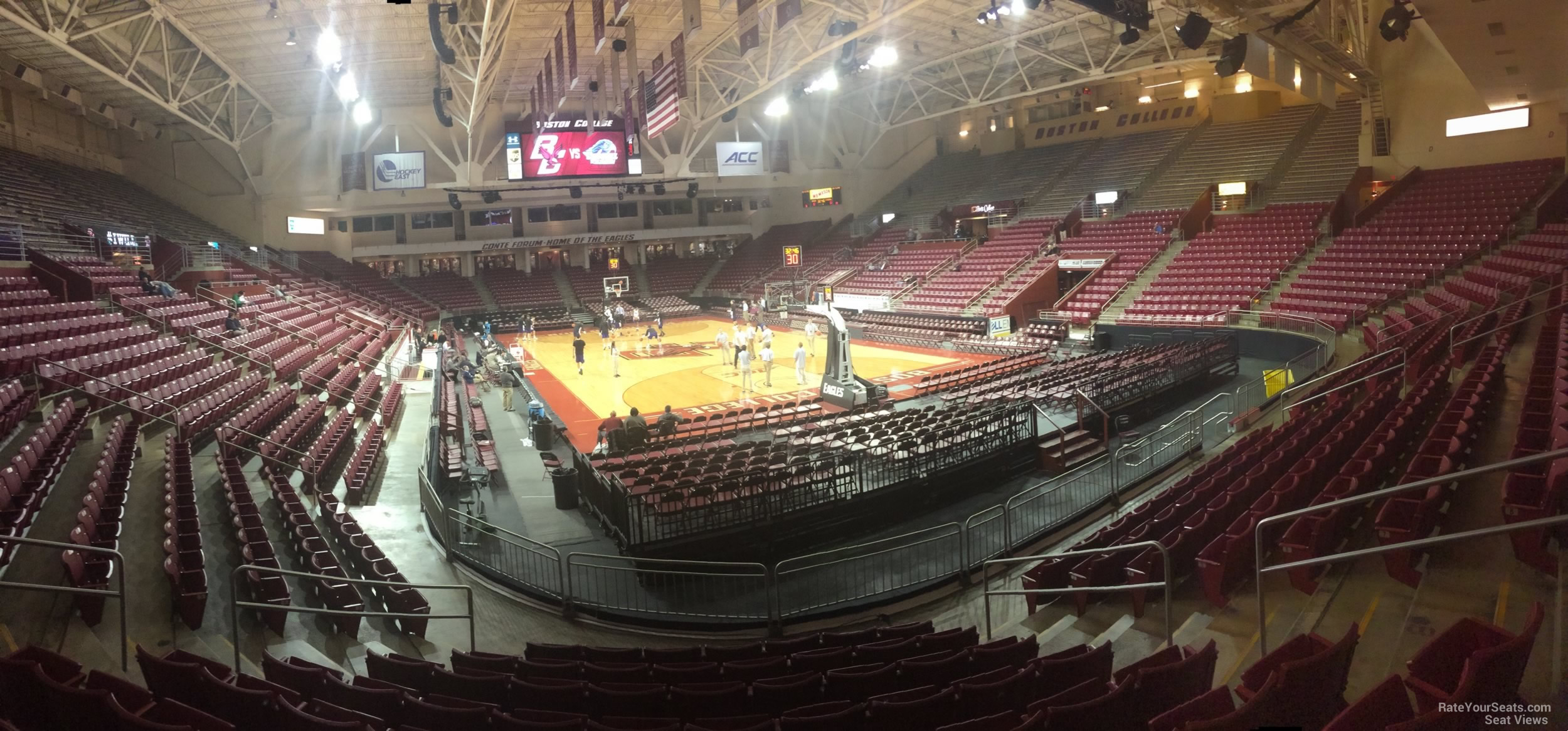 Seat View for Conte Forum Section H, Row 10