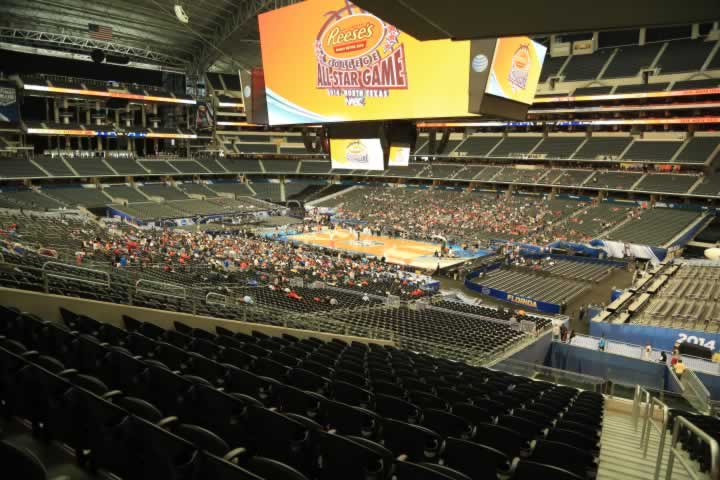 Basketball Seat View for AT&T Stadium Section 205