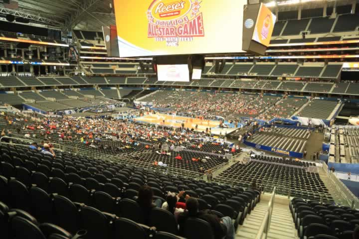 Basketball Seat View for AT&T Stadium Section C206