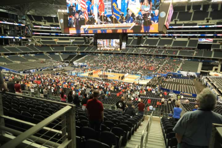 Basketball Seat View for AT&T Stadium Section C207