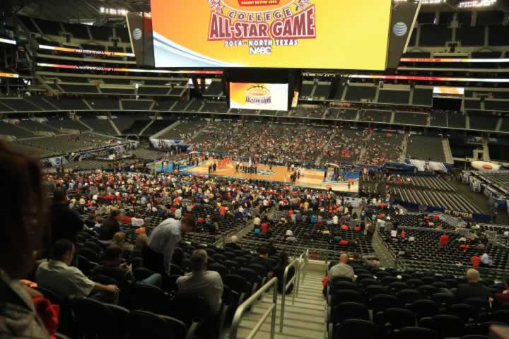 Basketball Seat View for AT&T Stadium Section C208