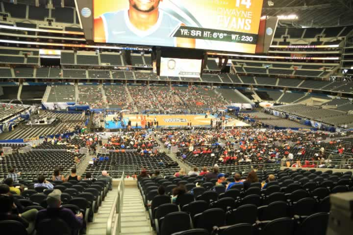 Basketball Seat View for AT&T Stadium Section C211