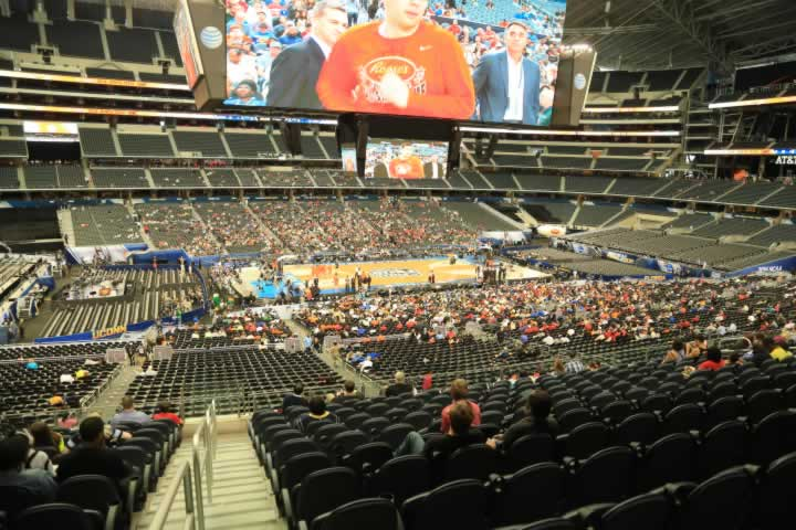 Basketball Seat View for AT&T Stadium Section C212