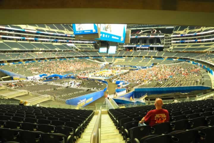 Basketball Seat View for AT&T Stadium Section 218