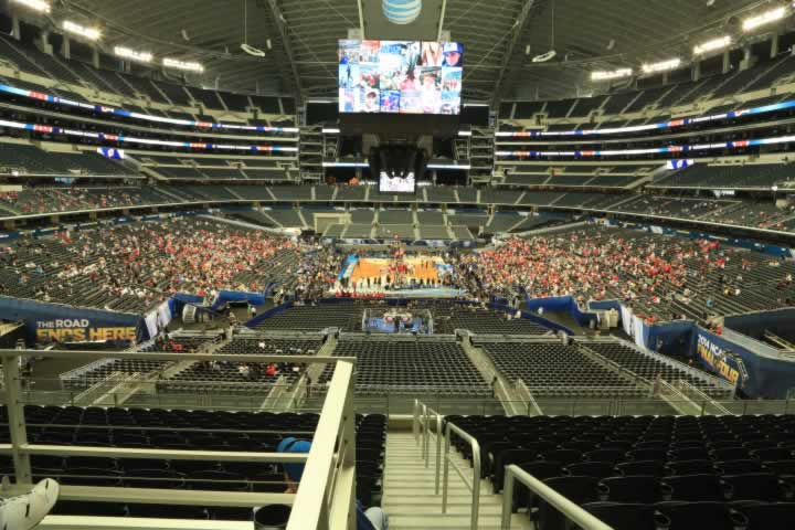 Basketball Seat View for AT&T Stadium Section 223