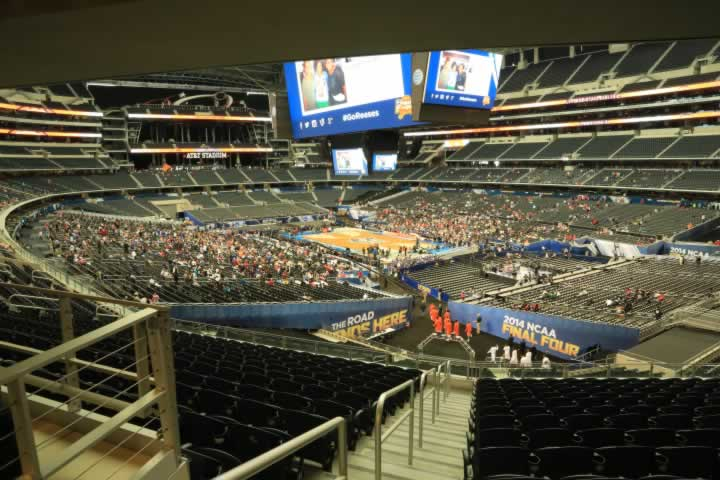 Basketball Seat View for AT&T Stadium Section 228