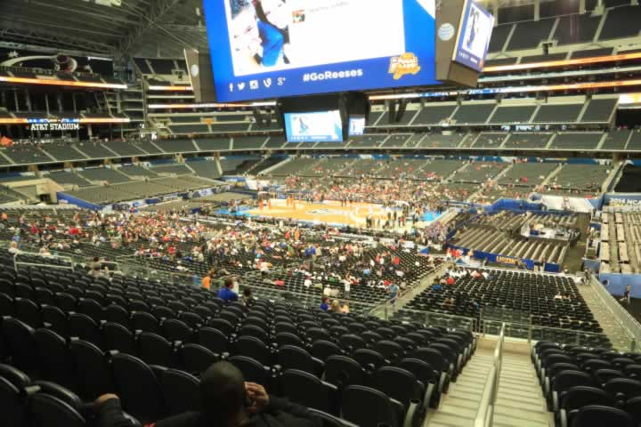 Basketball Seat View for AT&T Stadium Section C231