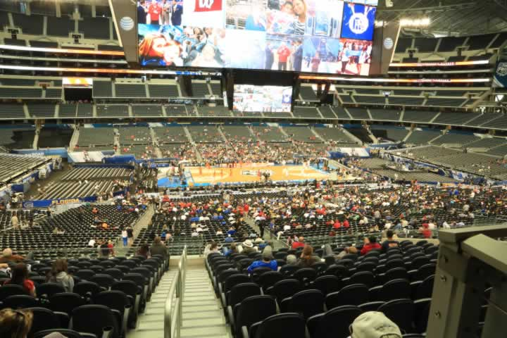 Basketball Seat View for AT&T Stadium Section C236