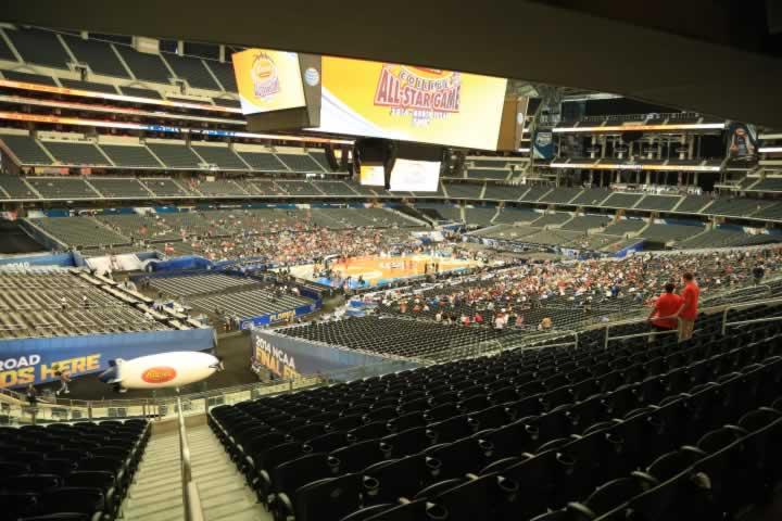 Basketball Seat View for AT&T Stadium Section 241