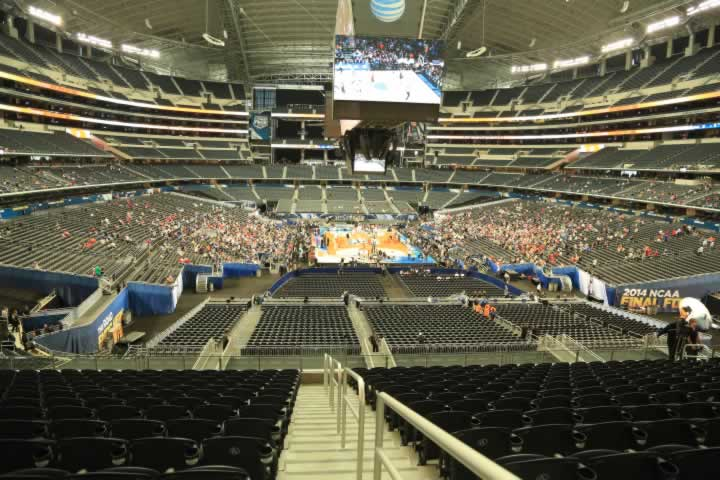 Basketball Seat View for AT&T Stadium Section 248
