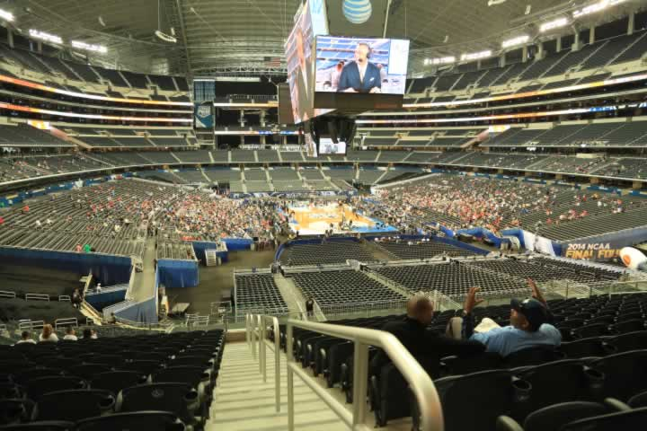 Basketball Seat View for AT&T Stadium Section 249