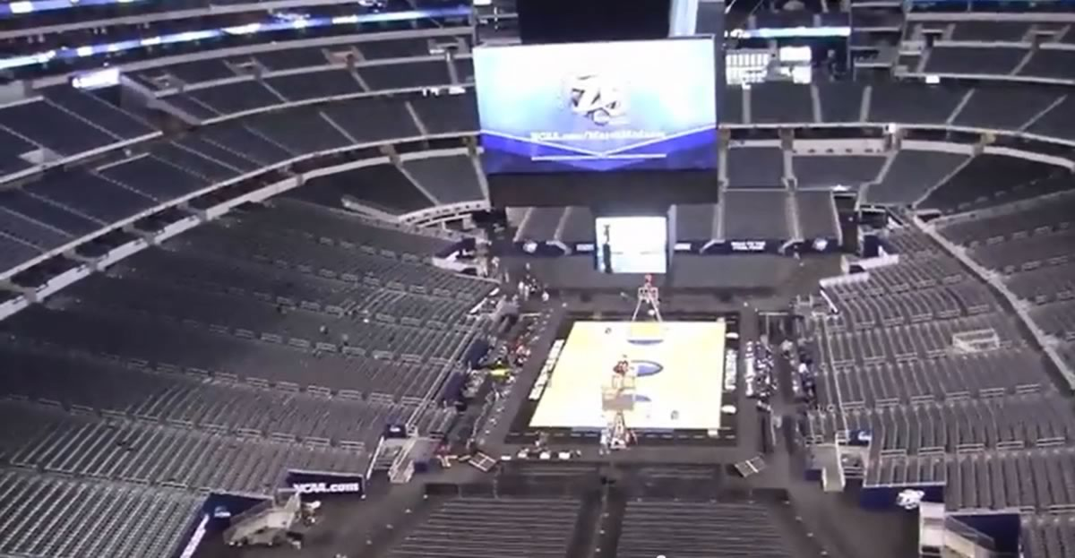 Basketball Seat View for AT&T Stadium Section 457