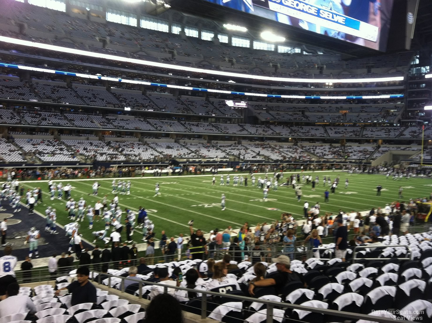Dallas Cowboys Att Stadium Seating Chart Interactive Map
