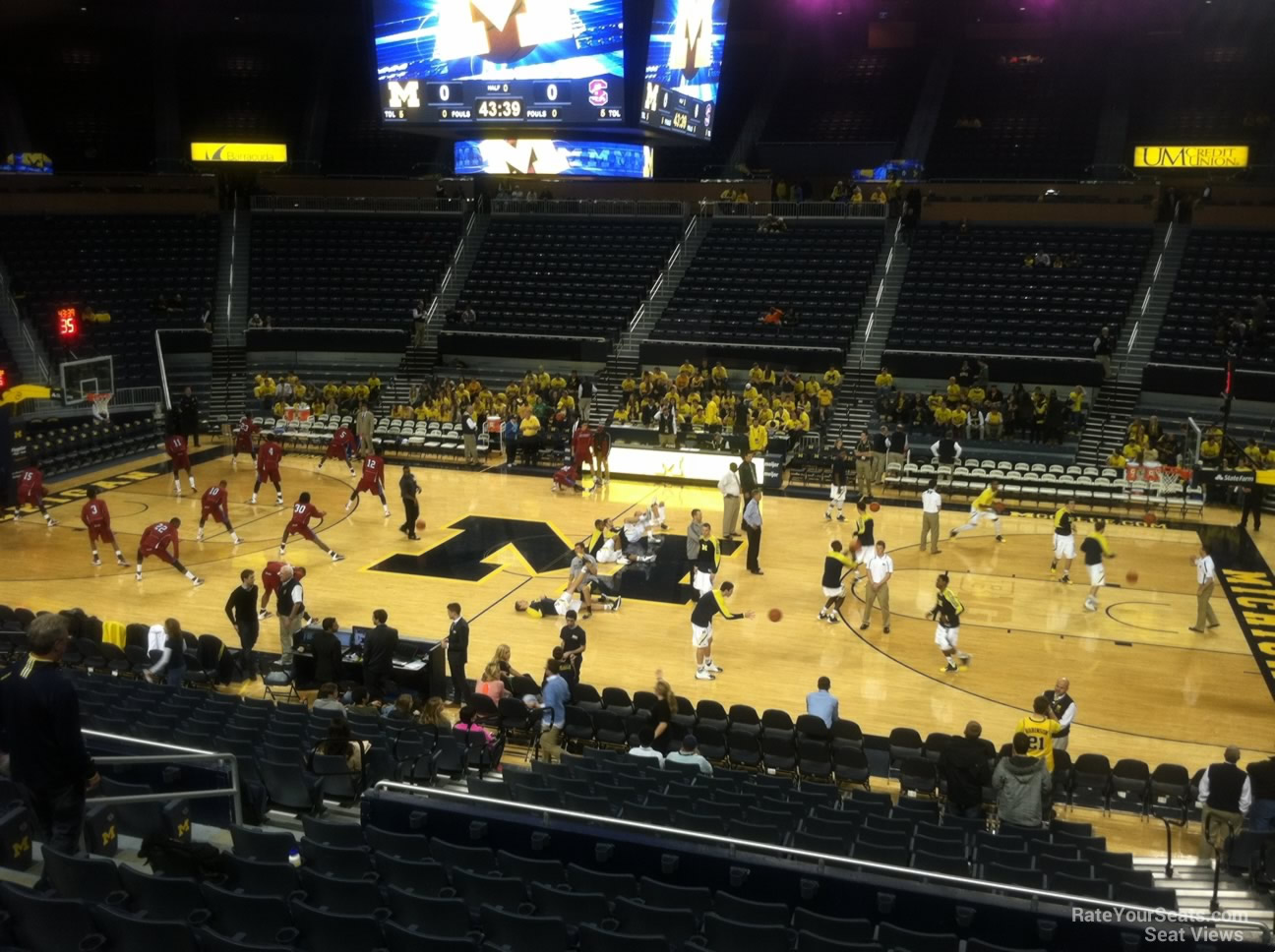 Seat View for Crisler Center Section 104, Row 16