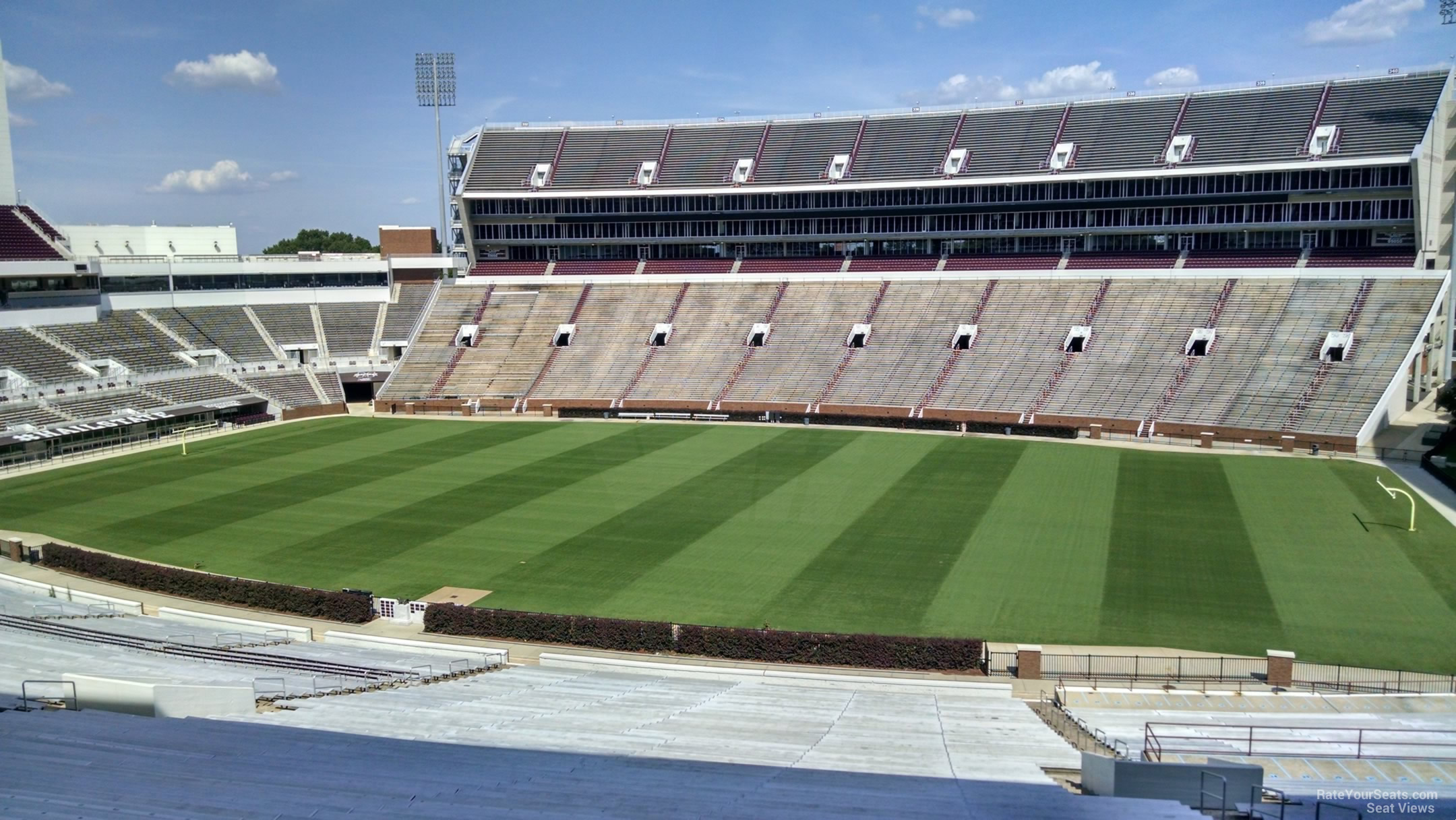 Seat View for Davis Wade Stadium Section 103, Row 64