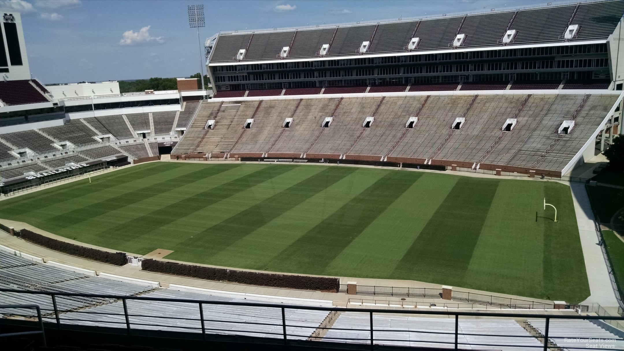 Seat View for Davis Wade Stadium Section 201, Row 8
