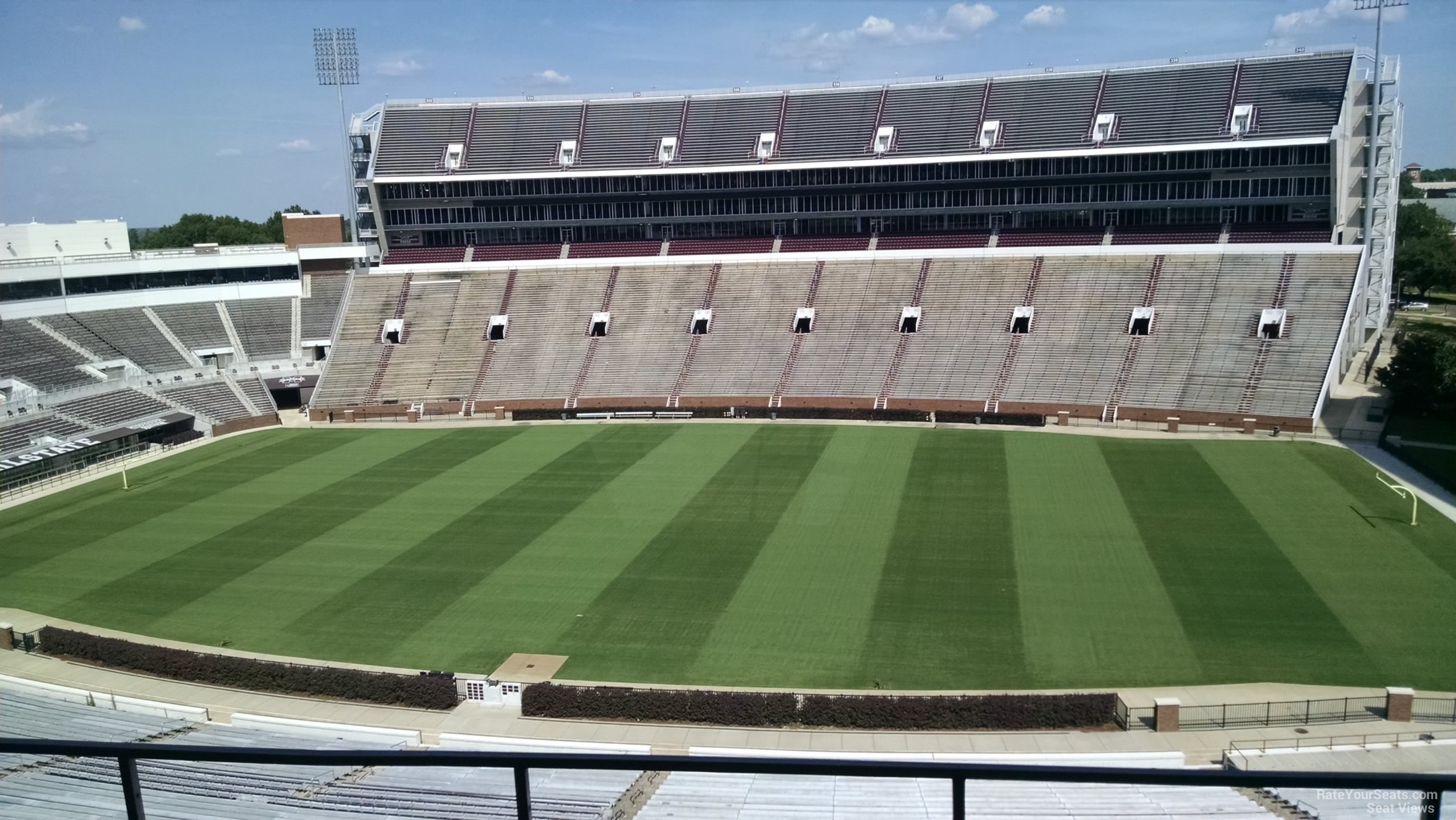Seat View for Davis Wade Stadium Section 204, Row 3
