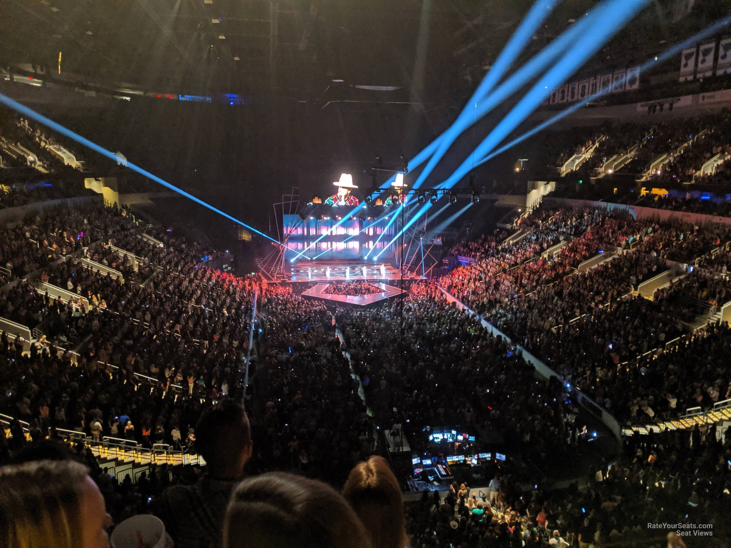 enterprise center section concert seating rateyourseatscom