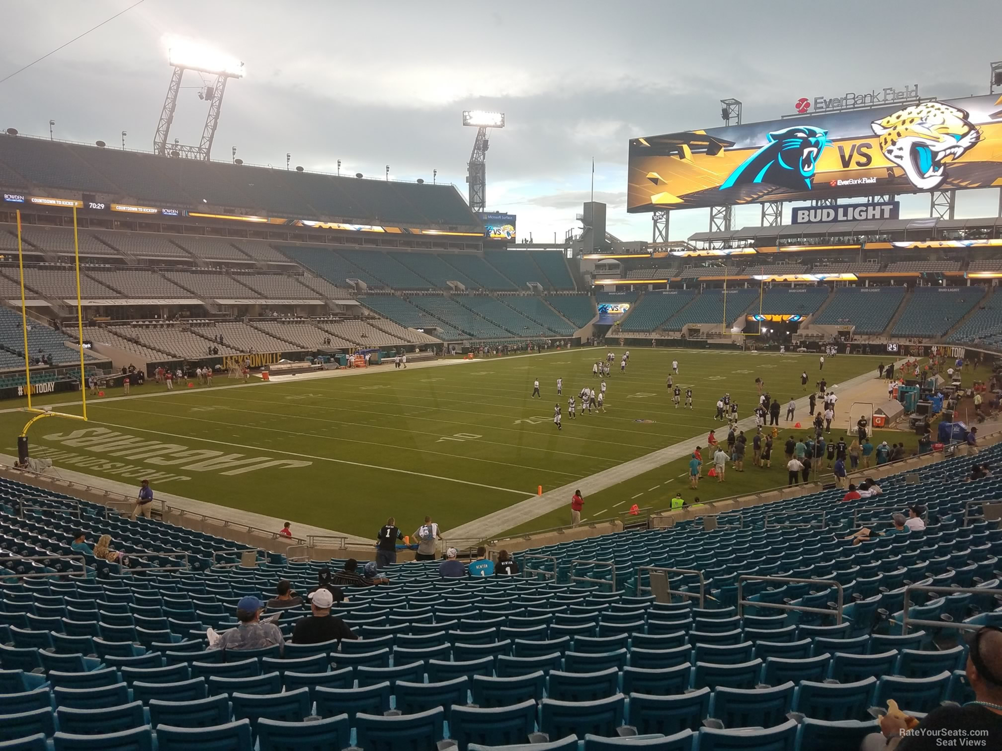 Seat View for TIAA Bank Field Section 118, Row CC