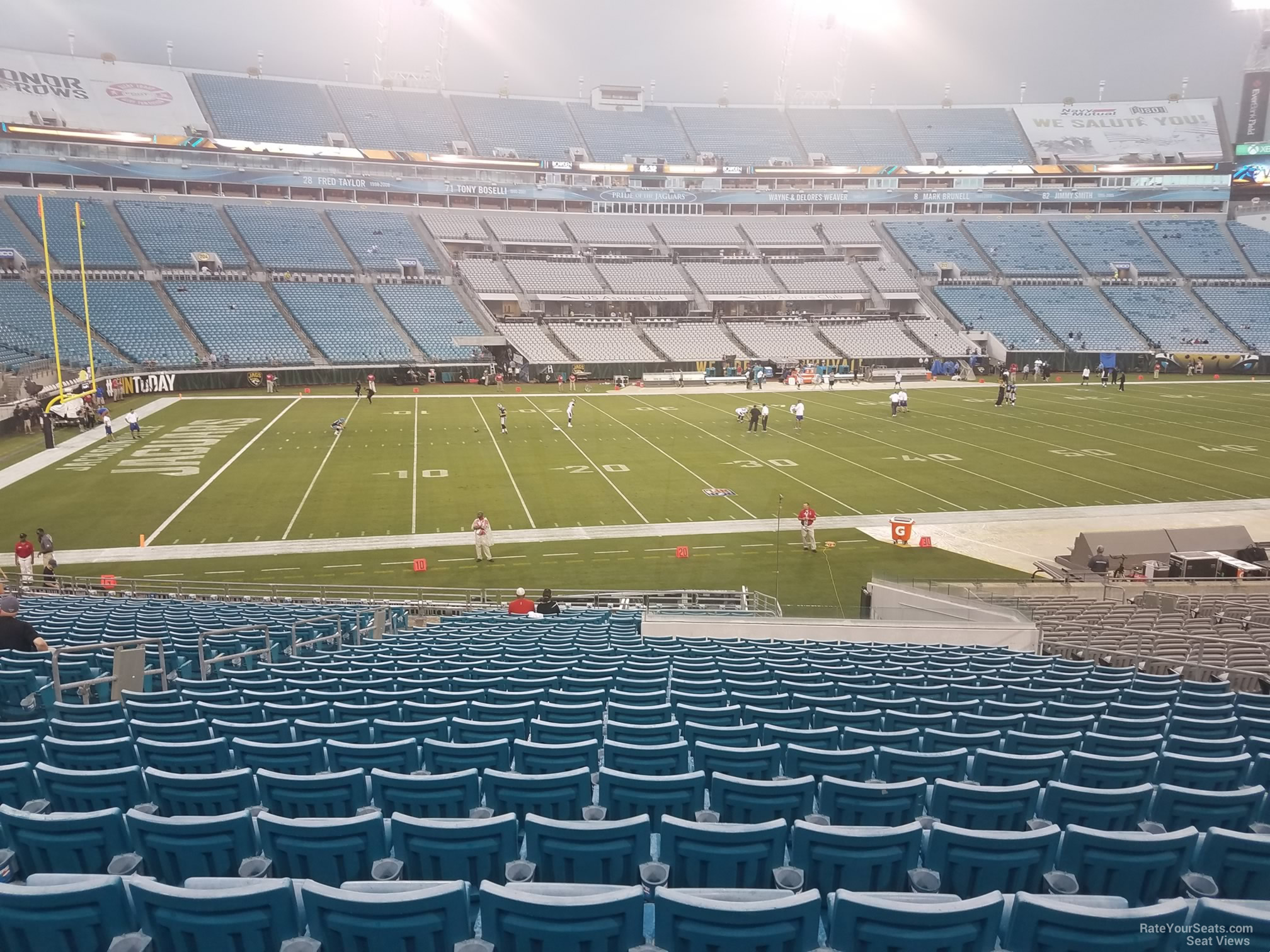 Seat View for TIAA Bank Field Section 140, Row CC