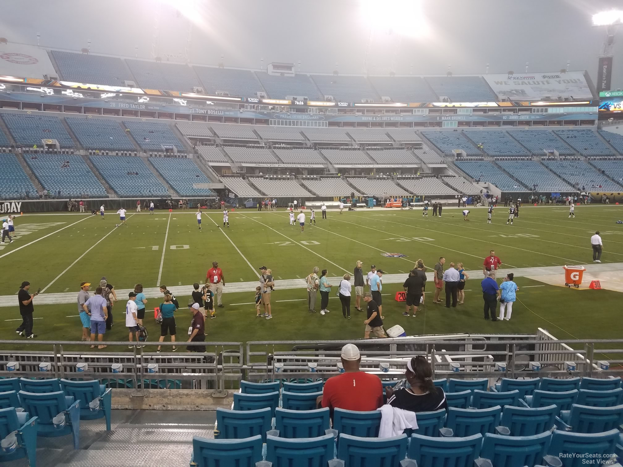 Seat View for TIAA Bank Field Section 140, Row J