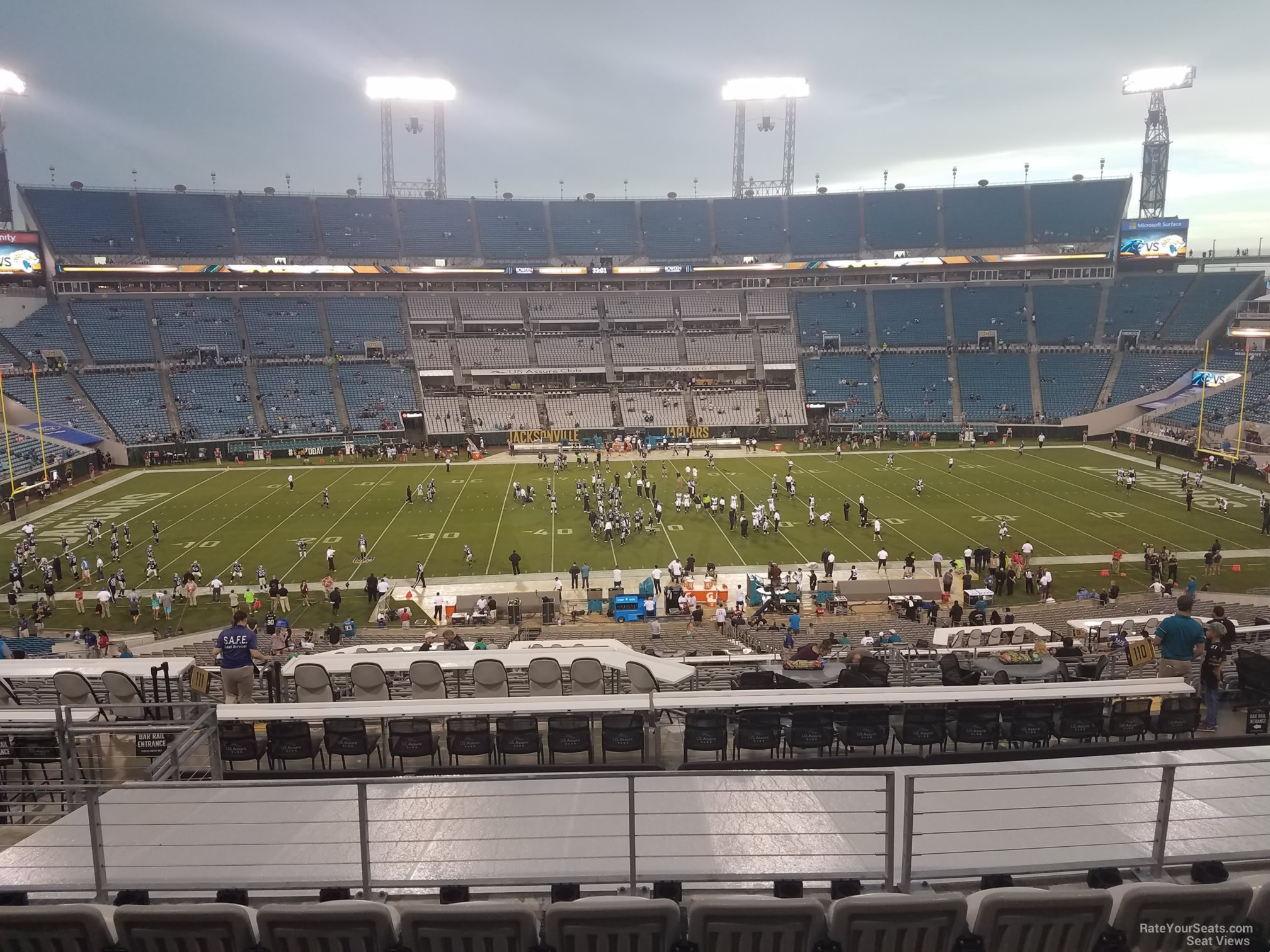 Seat View for TIAA Bank Field Section 210, Row F