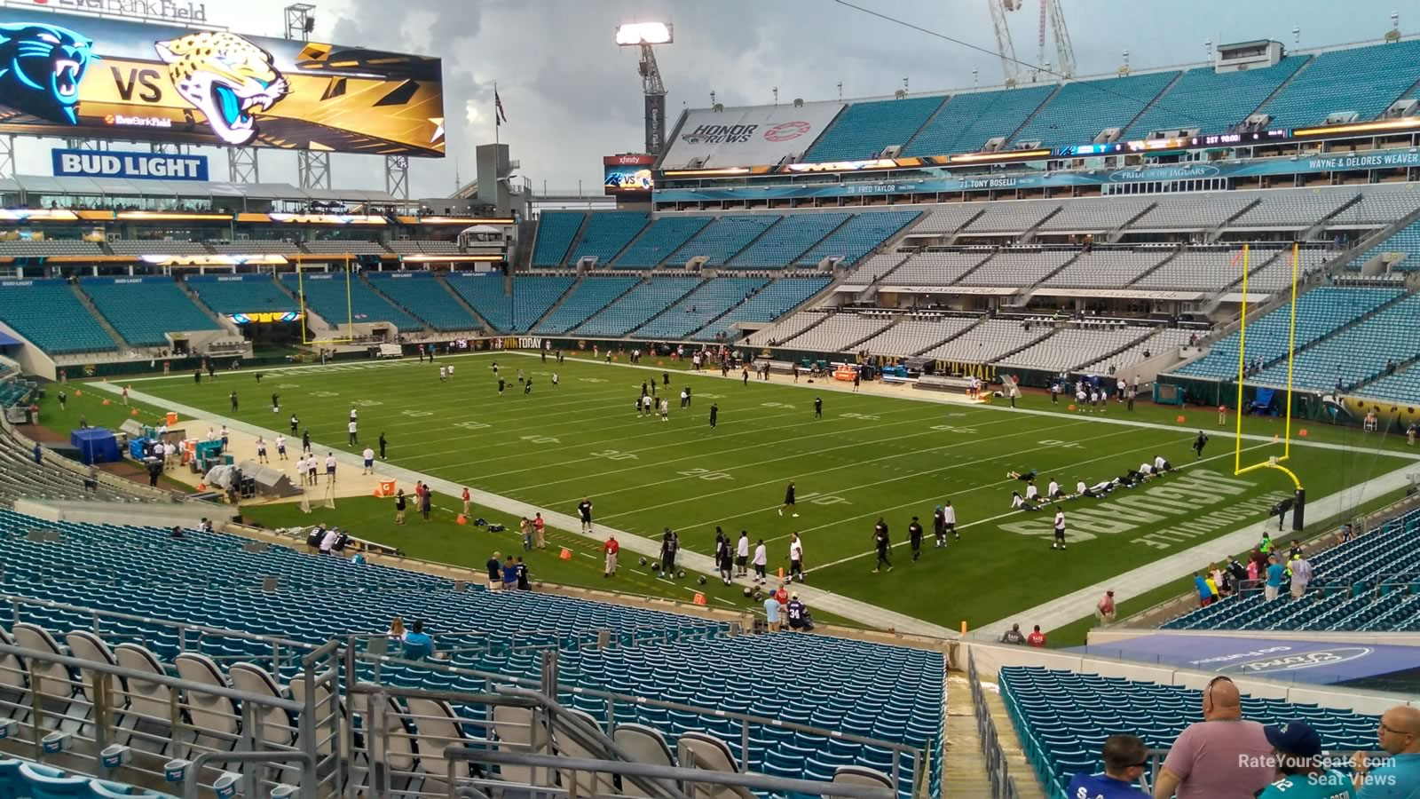 Seat View for TIAA Bank Field Section 229, Row F
