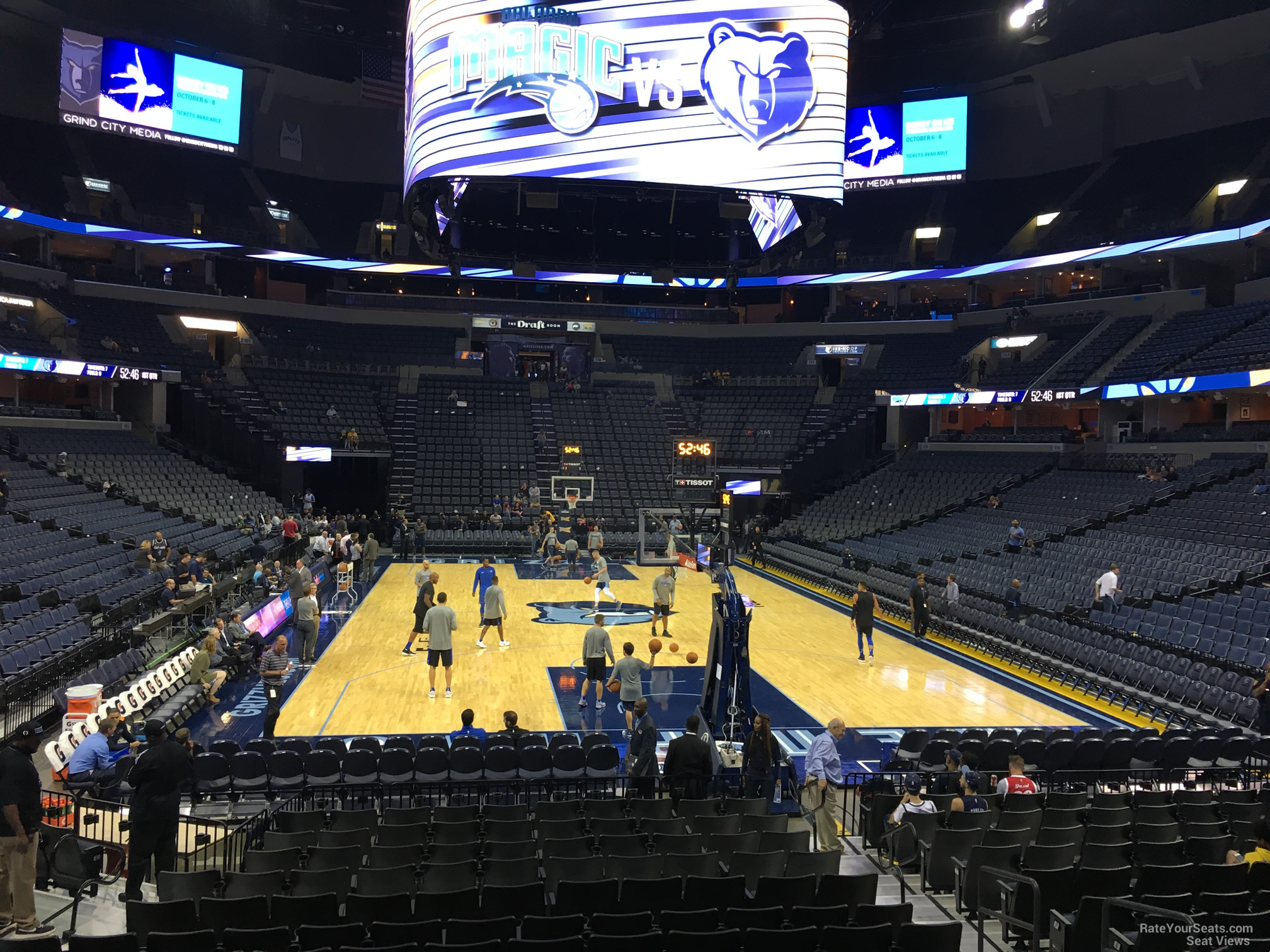 Seat View for FedEx Forum Section 109, Row R