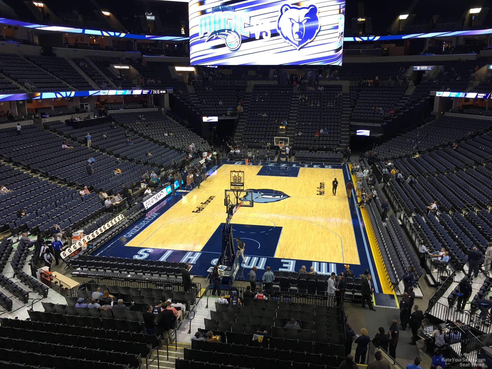 Seat View for FedEx Forum Section 110A