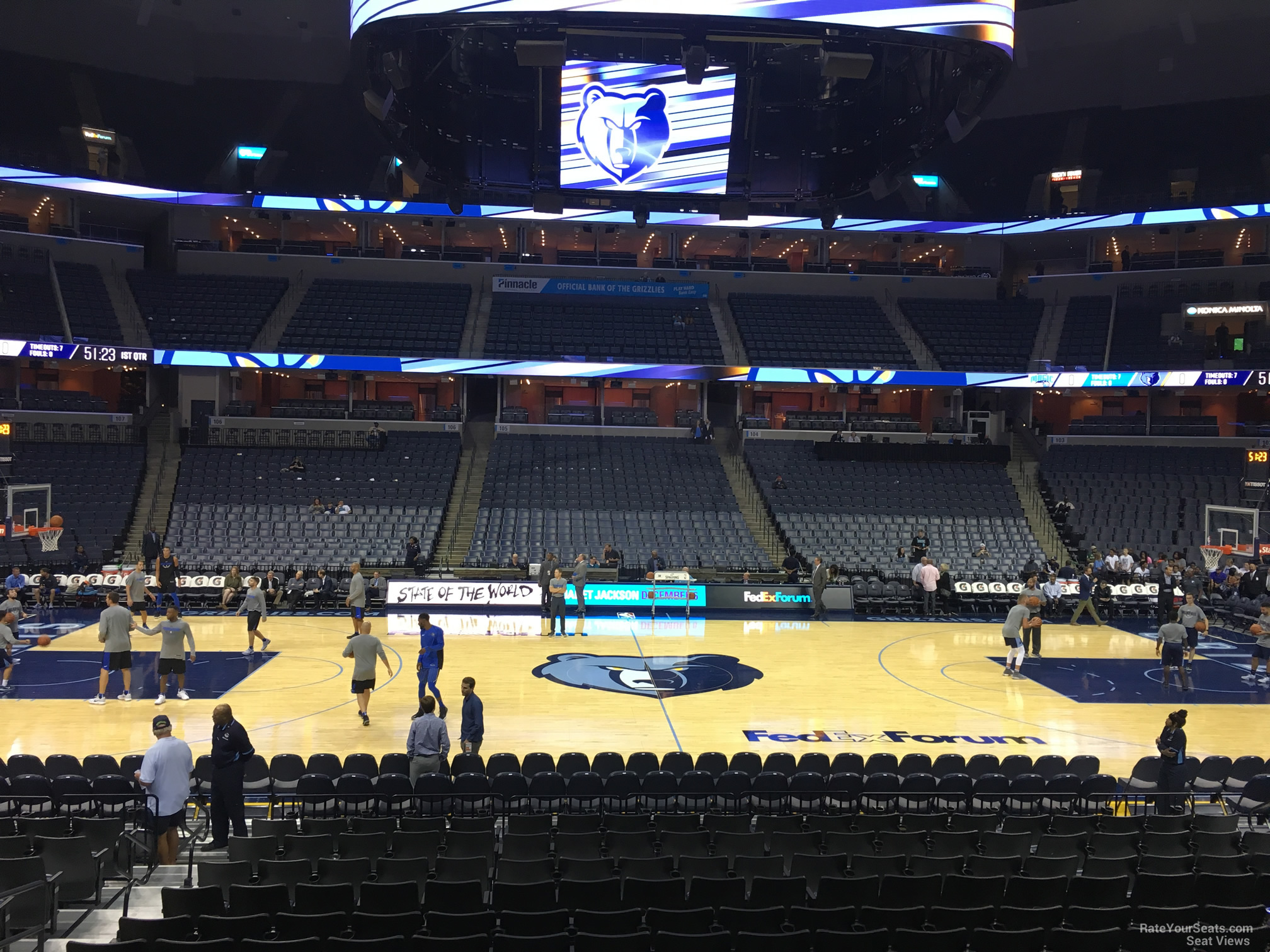 Seat View for FedEx Forum Section 114, Row R