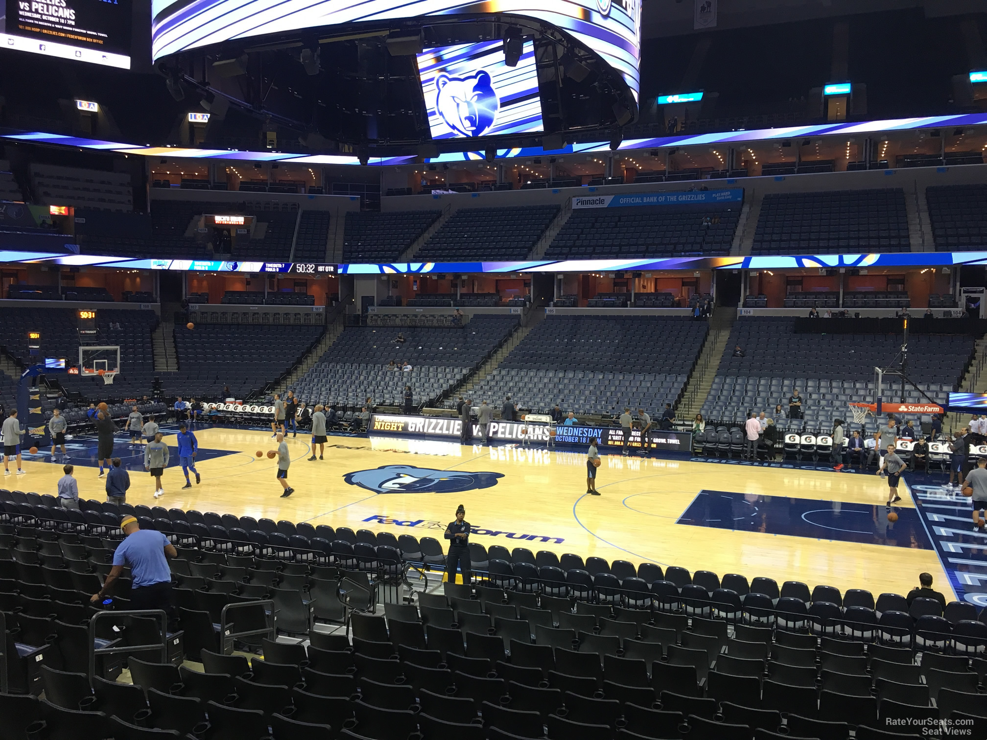 Seat View for FedEx Forum Section 115, Row R