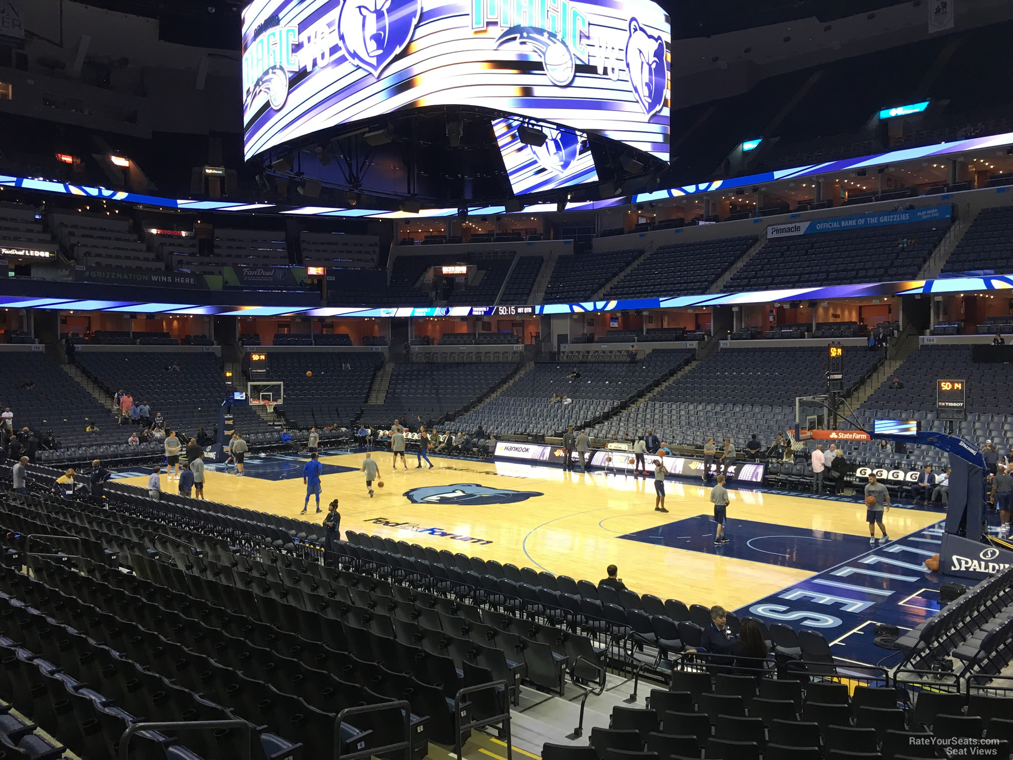 Seat View for FedEx Forum Section 116, Row R