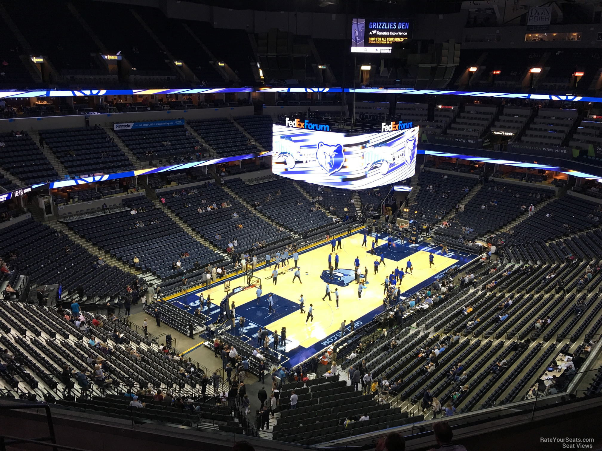 Seat View for FedEx Forum Section 204, Row F