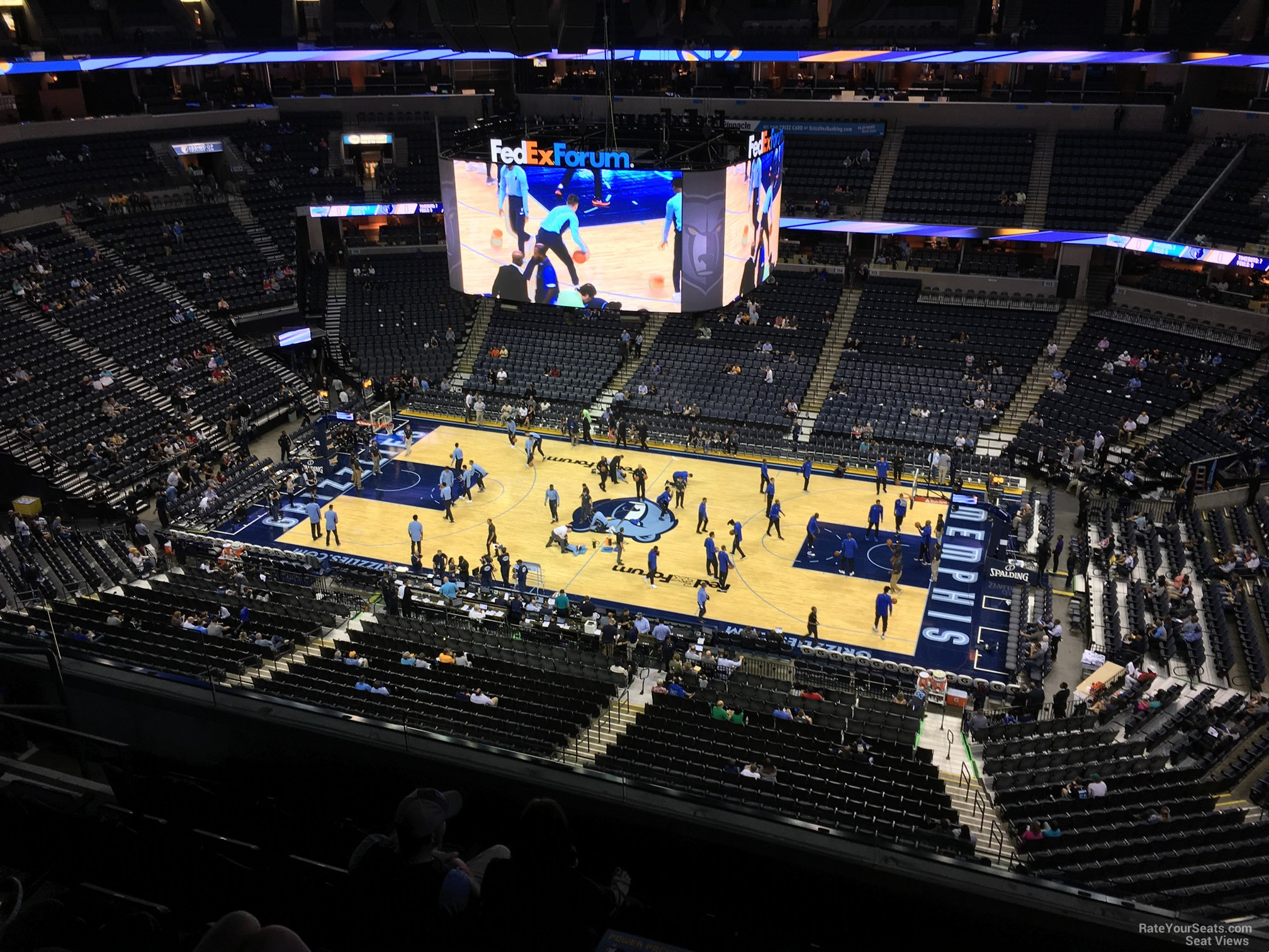 Seat View for FedEx Forum Section 210, Row F
