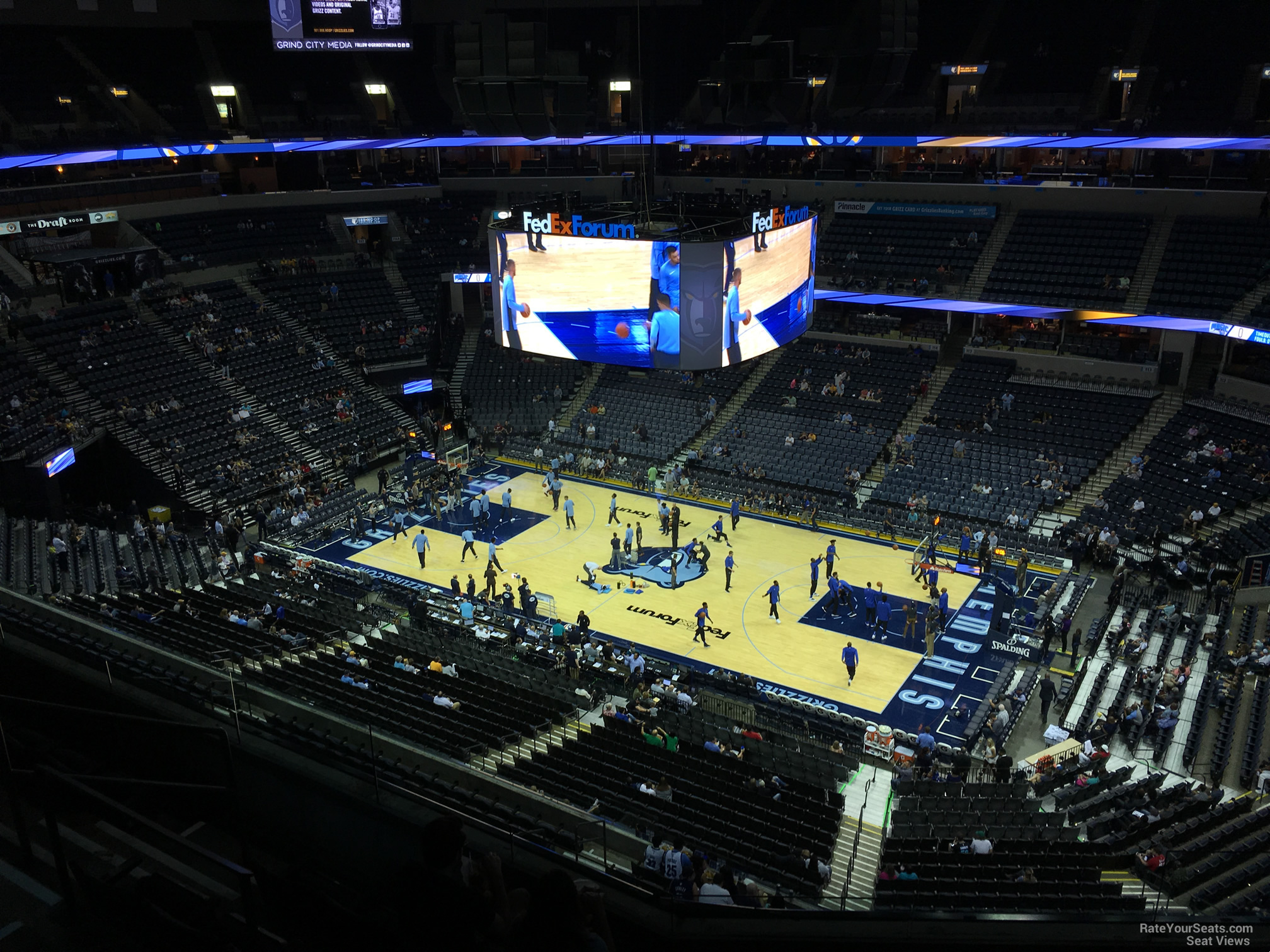 Seat View for FedEx Forum Section 211, Row F