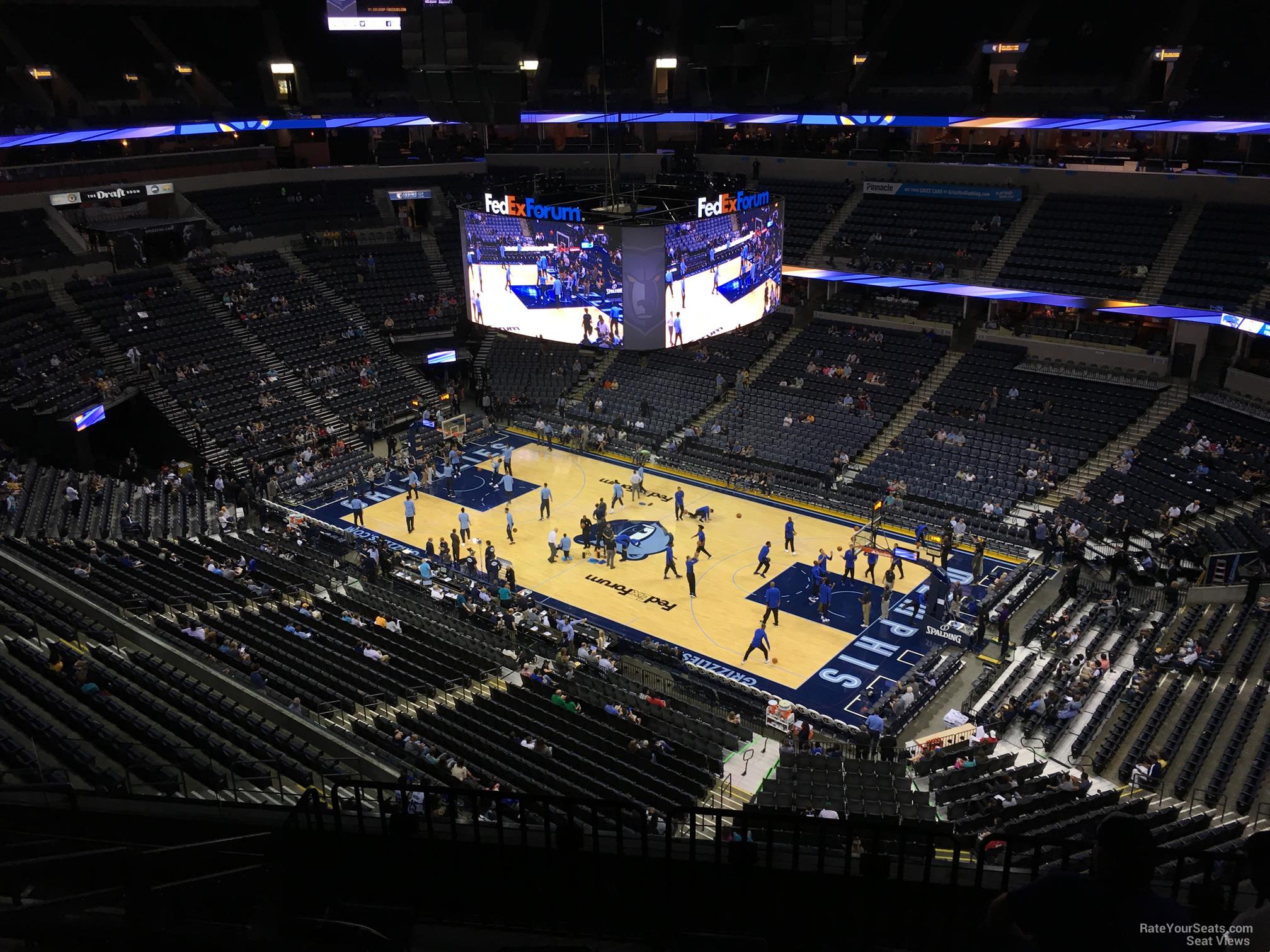 Seat View for FedEx Forum Section 212, Row F