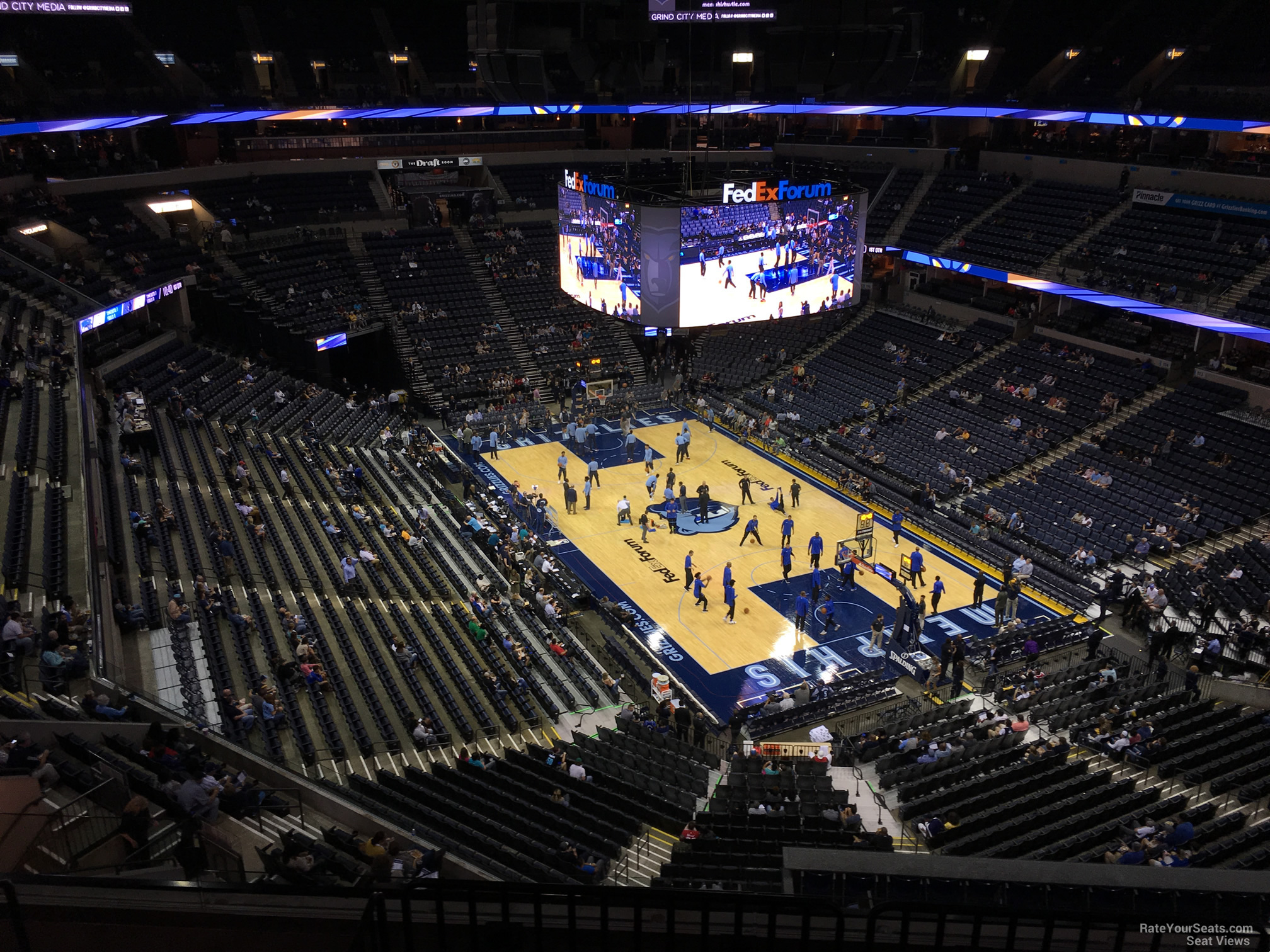 Seat View for FedEx Forum Section 214, Row F