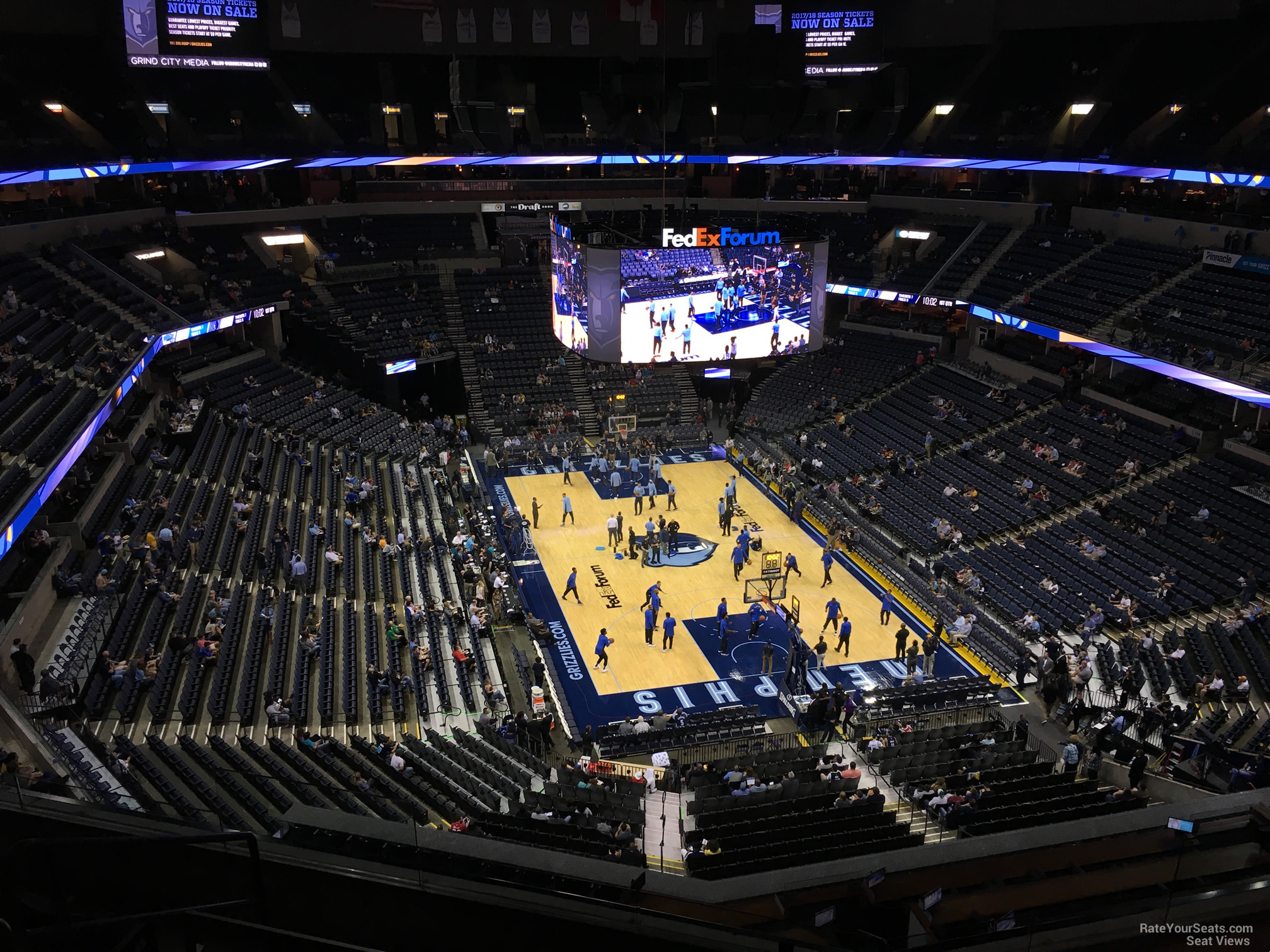 Seat View for FedEx Forum Section 215, Row F